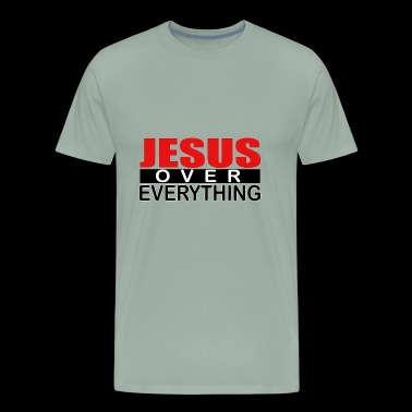 jesus over everything logo4 - Men's Premium T-Shirt
