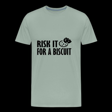 risk it for a biscuit - Men's Premium T-Shirt