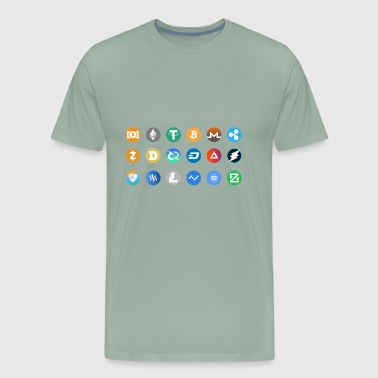 Kryptocurrency Pictogram - Men's Premium T-Shirt