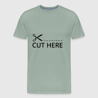 Cut Here Black - Men's Premium T-Shirt