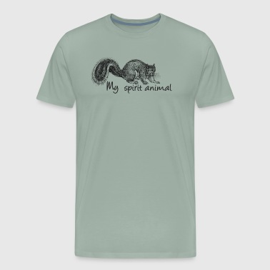 Squirrel My spirit animal - Men's Premium T-Shirt