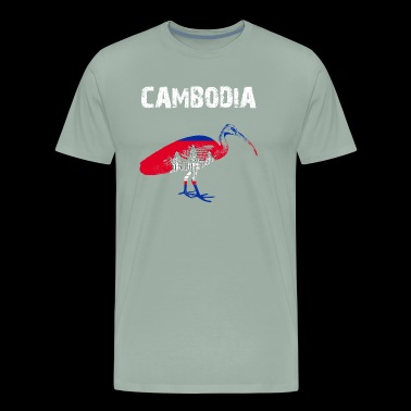 Nation-Design Cambodia Ibis 4qcMlN - Men's Premium T-Shirt