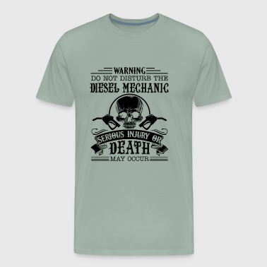 Warning Diesel Mechanic Shirt - Men's Premium T-Shirt