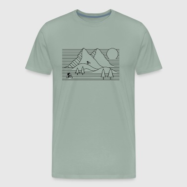 mountain bike mountain biking cycling - Men's Premium T-Shirt
