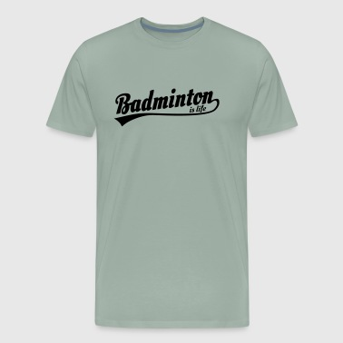 badminton is life retro badminton lovers - Men's Premium T-Shirt