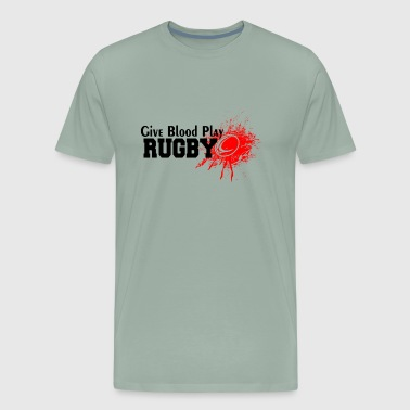 Give blood play rugby - Men's Premium T-Shirt
