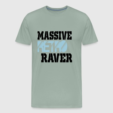 massive retro raver - Men's Premium T-Shirt