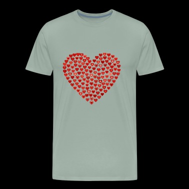 Heart Heart Heart - Men's Premium T-Shirt
