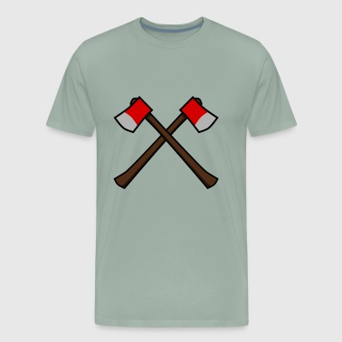 Crossed Axes - Men's Premium T-Shirt