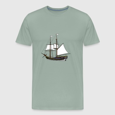 Boat Pirate - Men's Premium T-Shirt