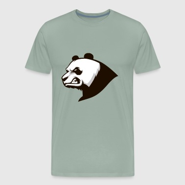 Emblem head panda shape bear animal wildlife image - Men's Premium T-Shirt