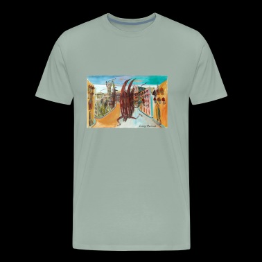 Catedral asustada - Men's Premium T-Shirt