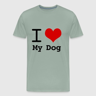 I love heart My Dog - Men's Premium T-Shirt