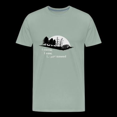 Sawmill wood forest lumberjack forester fun gift - Men's Premium T-Shirt