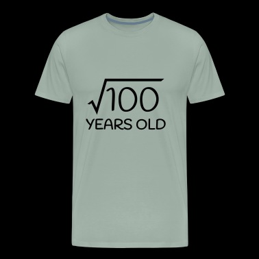 10 Years Old - 10th Birthday (square root 100) - Men's Premium T-Shirt