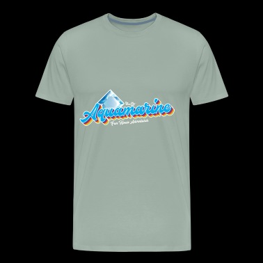 Aquamarine Birthstone Gem - Men's Premium T-Shirt