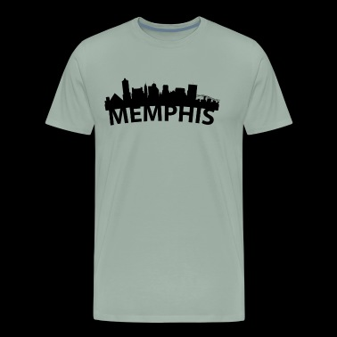 Arc Skyline Of Memphis TN - Men's Premium T-Shirt