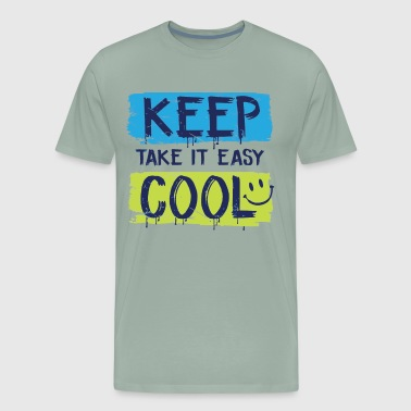 Keep Cool summer relaxing design - Men's Premium T-Shirt