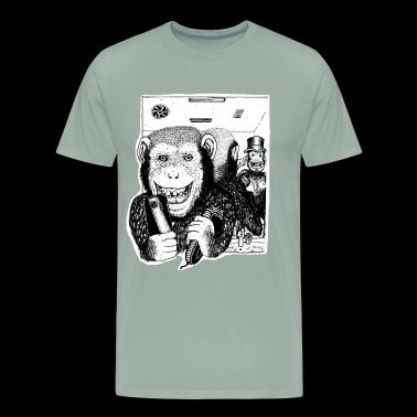 Chimp Friends - Men's Premium T-Shirt