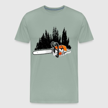 Your Forestry Business - Chainsaw & Pine Forest - Men's Premium T-Shirt