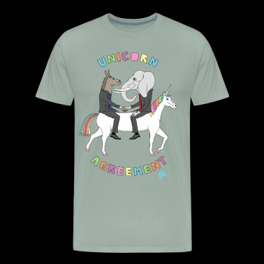Unicorn Agreement Republican & Democrat On Unicorn - Men's Premium T-Shirt