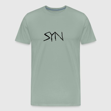 Syn Scarred Letters - Men's Premium T-Shirt