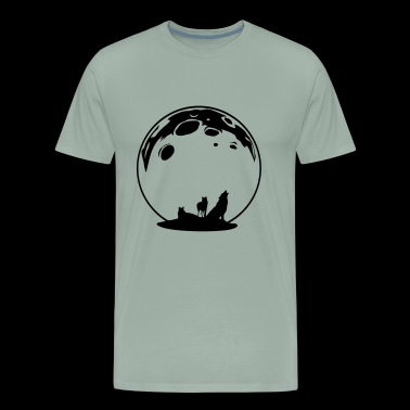 Wolves moon howling gift present idea - Men's Premium T-Shirt