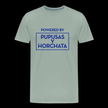 Powered by Pupusas y horchate - Men's Premium T-Shirt