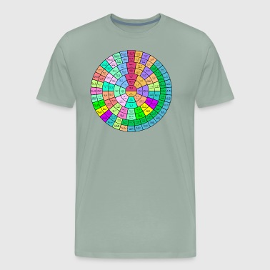 The Round Periodic Table of The Chemical Elements - Men's Premium T-Shirt