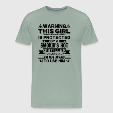 Protected By Smokin Hot Distiller Shirt - Men's Premium T-Shirt