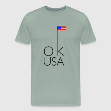 OK USA on white - Men's Premium T-Shirt
