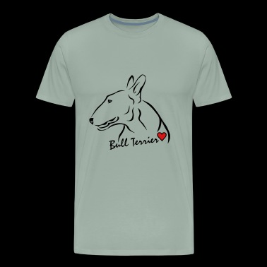 Bull Terrier ❤ - Men's Premium T-Shirt