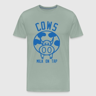 Cows Milk on Tap - Men's Premium T-Shirt