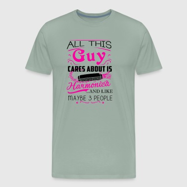 All This Guy Cares About Harmonica Shirt - Men's Premium T-Shirt
