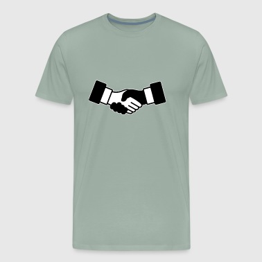 shaking hands - Men's Premium T-Shirt