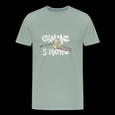 Gimme S'more Funny Roasting Marshmallows Distresse - Men's Premium T-Shirt