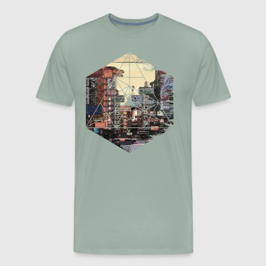 Retro Vintage Geometric - Streets of Chinatown Asi - Men's Premium T-Shirt
