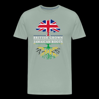 British Grown with Jamaican Roots - Jamaica Design - Men's Premium T-Shirt