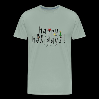 christmas happy holidays xmas santa present - Men's Premium T-Shirt