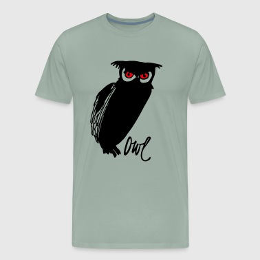 Her Highness The Owl Red - Men's Premium T-Shirt