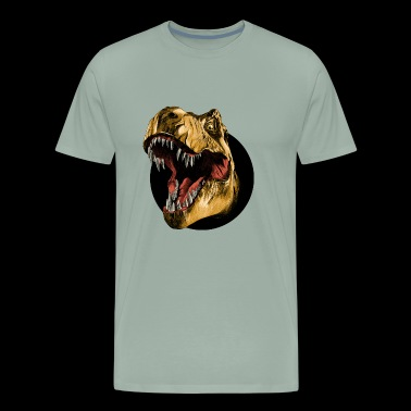 Funny dinosaur head sketch vector color drawing - Men's Premium T-Shirt