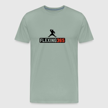 Flexing 365 T Shirt Designs 1 SS - Men's Premium T-Shirt