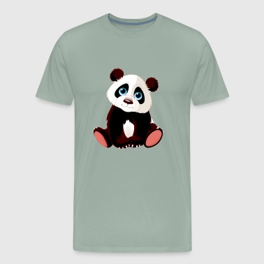 Baby panda bear animal wildlife funny vector image - Men's Premium T-Shirt