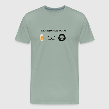 simple man boobs bier beer titten cycling cycle fa - Men's Premium T-Shirt