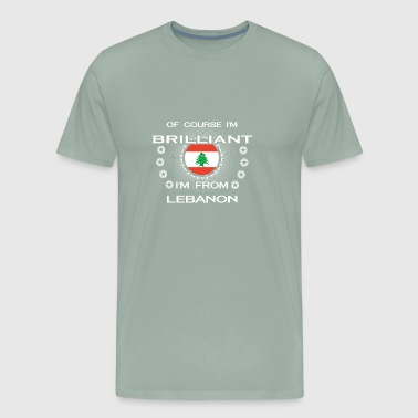 I AM GENIUS CLEVER BRILLIANT LEBANON - Men's Premium T-Shirt