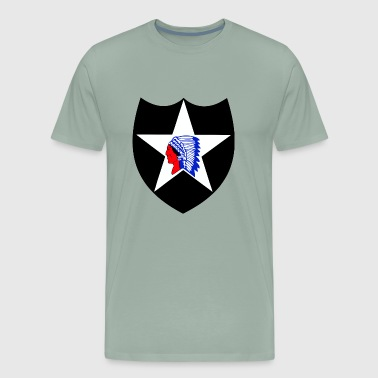 Army 2nd Infantry Division Indian head - Men's Premium T-Shirt