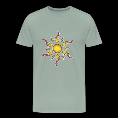 Old School tattoo Sun grunge - Men's Premium T-Shirt