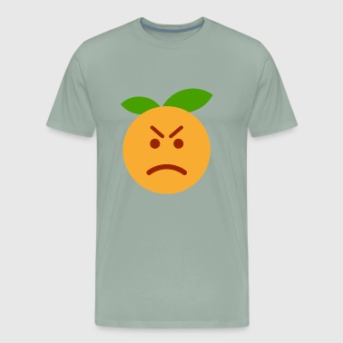 Angry orange fruit fruits taste tasty - Men's Premium T-Shirt