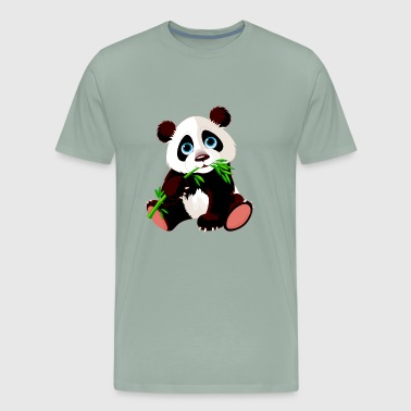 Baby panda bamboo bear animal wildlife cool image - Men's Premium T-Shirt