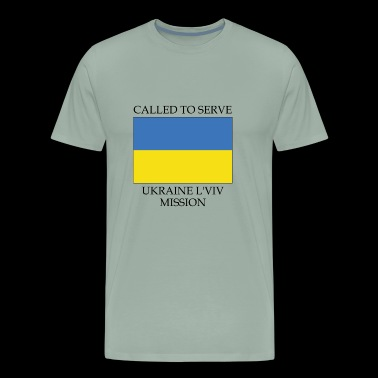 Ukraine L viv LDS Mission Called to Serve Flag - Men's Premium T-Shirt